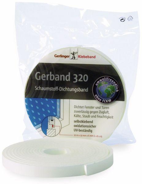 PUR-Schaum Dichtungsband GERBAND 320, 9 mm x 10 m, weiß
