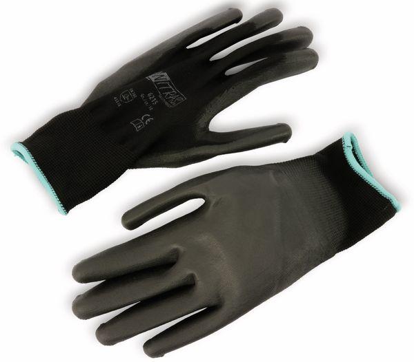 Nylon-Arbeitshandschuhe NITRAS, EN388, Größe 10, schwarz