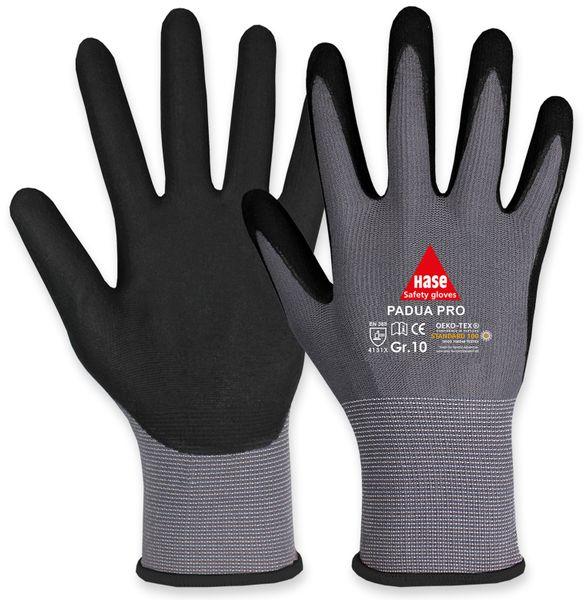 Arbeitshandschuhe, Padua Pro, EN388, EN 420, grau/schwarz, Größe 10
