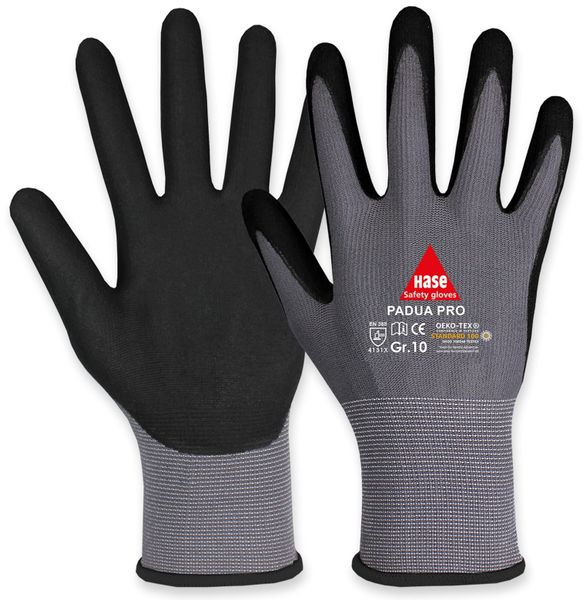Arbeitshandschuhe, Padua Pro, EN388, EN 420, grau/schwarz, Größe 11