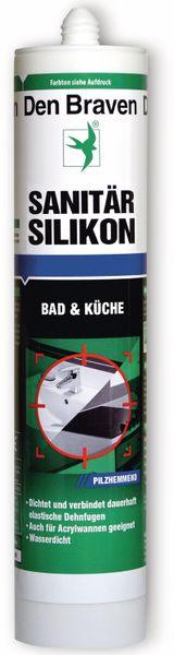 Sanitär Silikon DEN BRAVEN, schwarz, 300 ml