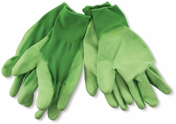 Arbeitshandschuh, WZ, Feinstrick, Gr.10, grün, Polyester/PU, 2 Paar