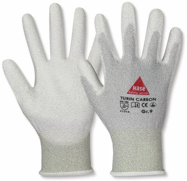 Montagehandschuhe, TURIN CARBON, EN388, EN 420, antistatisch, grau/weiß, Größe 7