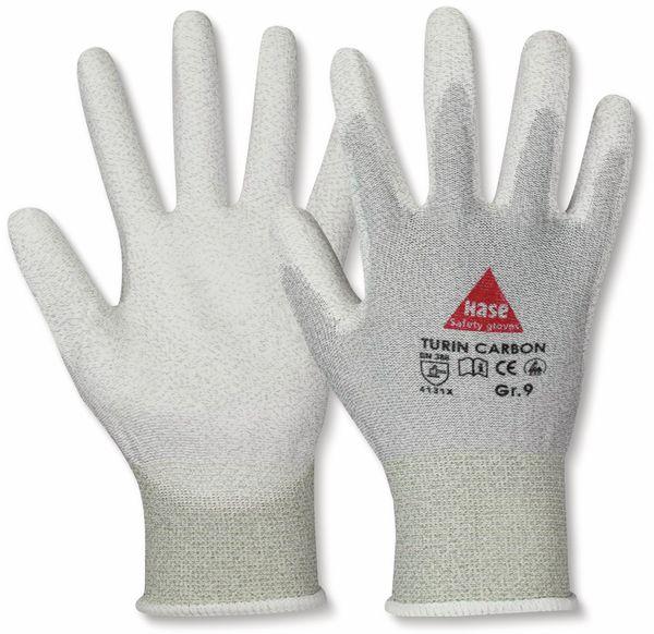 Montagehandschuhe, TURIN CARBON, EN388, EN 420, antistatisch, grau/weiß, Größe 8