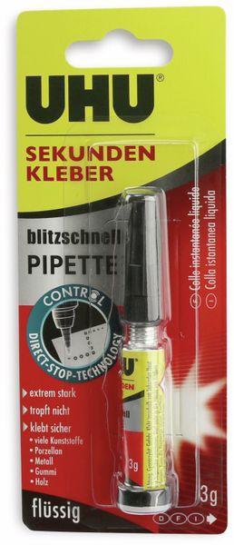 Sekundenkleber UHU, 3 g, flüssig, mit Pipette - Produktbild 3