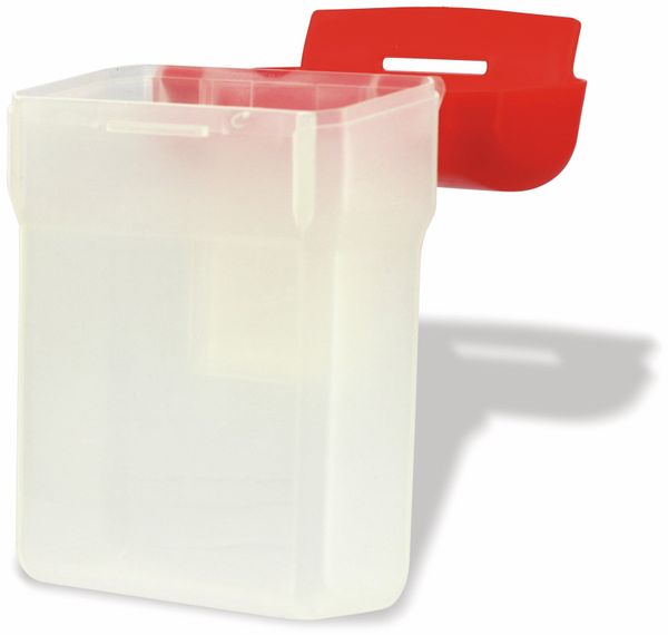 Kunststoffbox mit Gürtelclip, 12x9x5 cm - Produktbild 4