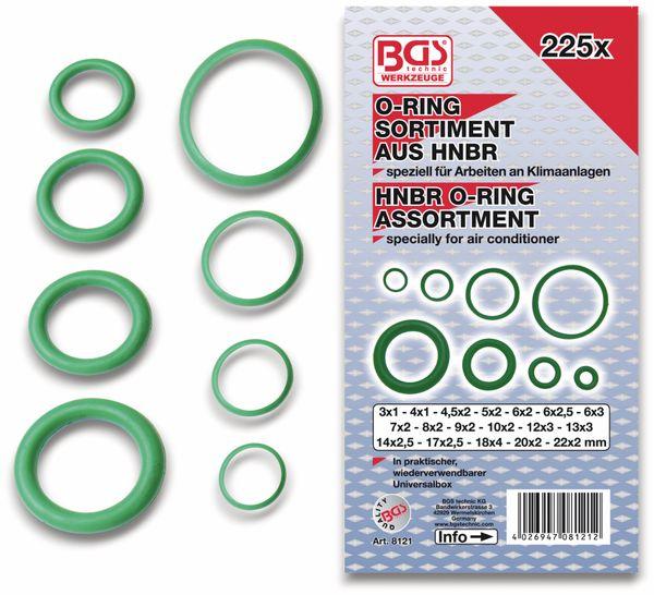 Sort. O-Ring, BGS, 8121, Ø3...22 mm, HBNR, 225-tlg