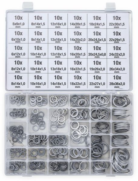 Sort. Dichtring, BGS, 8143, Aluminium, 300-tlg - Produktbild 2