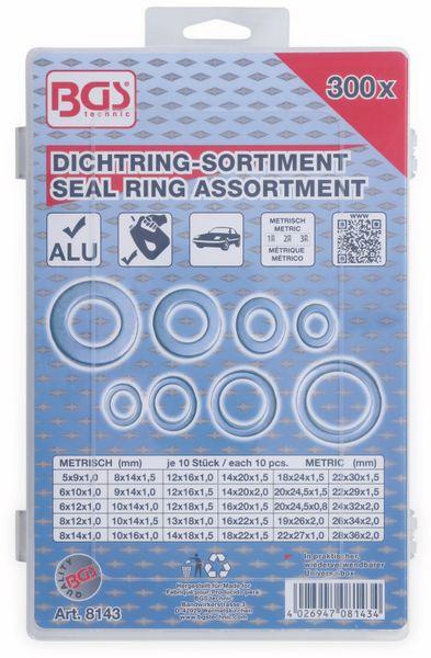 Sort. Dichtring, BGS, 8143, Aluminium, 300-tlg - Produktbild 3