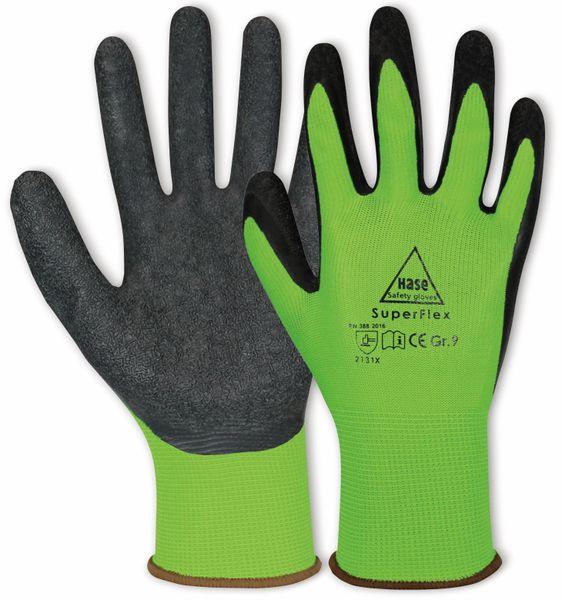 Latex-Arbeitshandschuhe Superflex, EN 388, EN 420, Größe 7, grün/schwarz