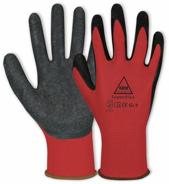 Latex-Arbeitshandschuhe Superflex, EN 388, EN 420, Größe 11, rot/schwarz