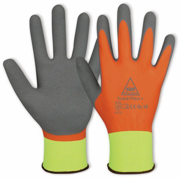 Latex-Arbeitshandschuhe, Superflex+, EN 388, EN 420, neongeld/orange, Größe 8