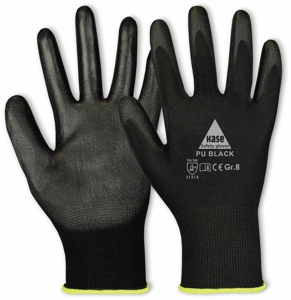 Arbeitshandschuhe PU, PU black, EN 388, EN 420, schwarz, Größe 8