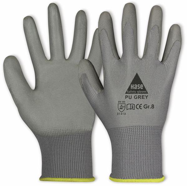 Arbeitshandschuhe PU, PU grey, EN 388, EN 420, grau, Größe 8