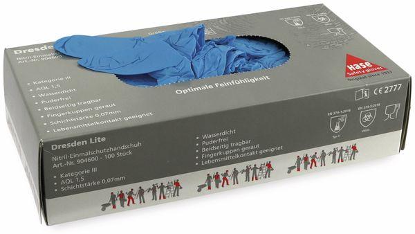 Einweghandschuhe aus Nitril, HASE SAFTEY GLOVES, EN 374-1, EN 420 Größe 8, 100 Stück - Produktbild 3