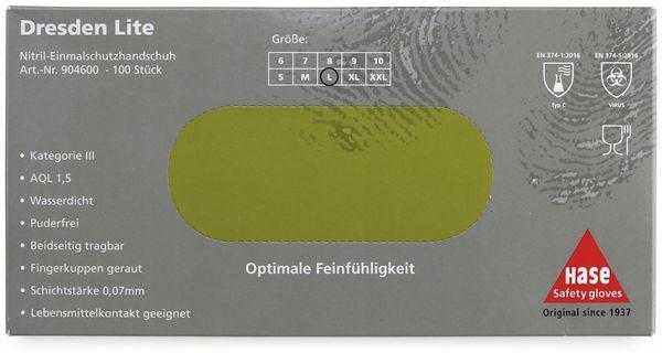 Einweghandschuhe aus Nitril, HASE SAFTEY GLOVES, EN 374-1, EN 420 Größe 8, 100 Stück - Produktbild 4
