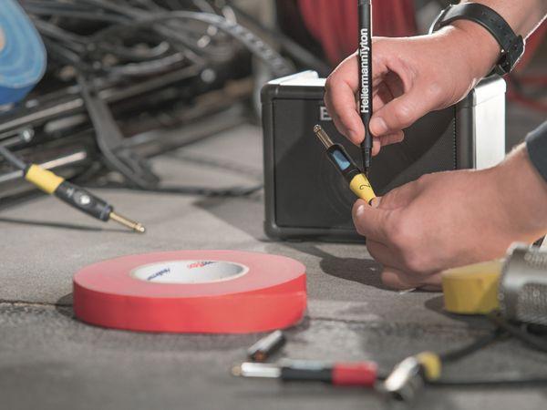 Isolierband, HellermannTyton, 712-00202, HelaTapeFlex15, gelb, 19mmx10m - Produktbild 4