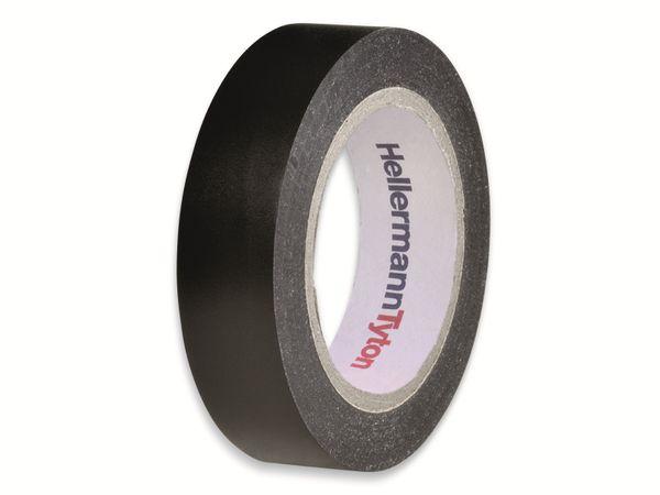 Isolierband, HellermannTyton, 710-00104, HelaTapeFlex15, schwarz, 15mmx10m
