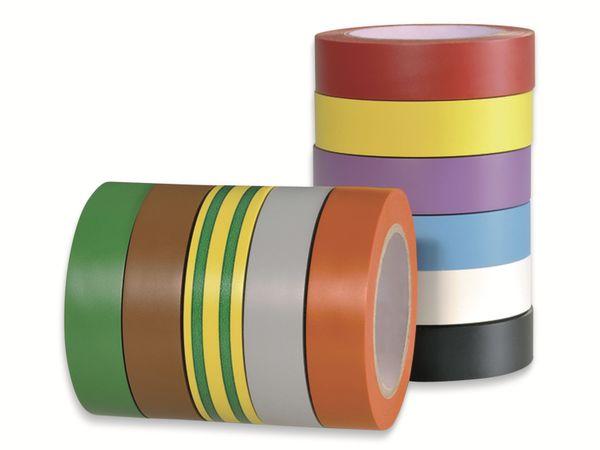Isolierband, HellermannTyton, 710-00146, HelaTapeFlex15, mix, 15mmx10m