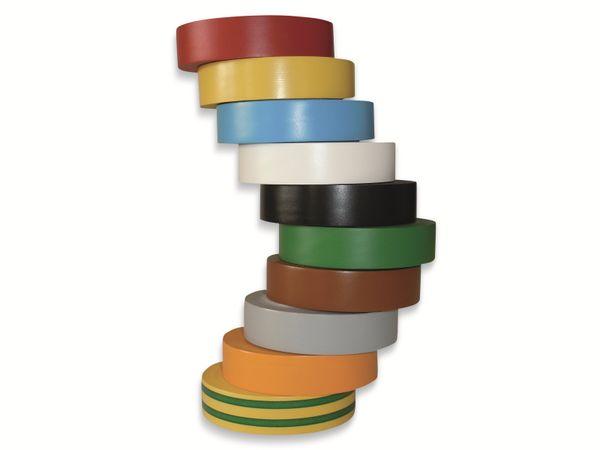 Isolierband, HellermannTyton, 710-00146, HelaTapeFlex15, mix, 15mmx10m - Produktbild 2