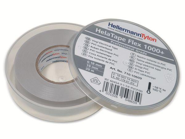 Isolierband, HellermannTyton, 710-10609, HTAPE-FLEX1000+, grau, 19mmx20m, Box