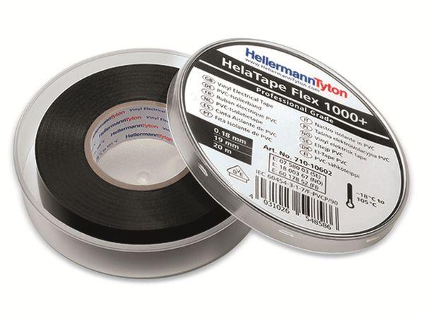 Isolierband, HellermannTyton, 710-10609, HTAPE-FLEX1000+, grau, 19mmx20m, Box - Produktbild 3