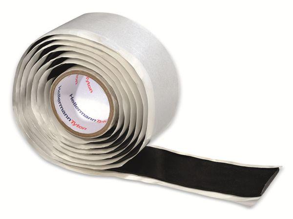 Isolierband, HellermannTyton, 711-10300, HTAPE-POWER650, selbstverschweißend, schwarz, 38mmx1,5m