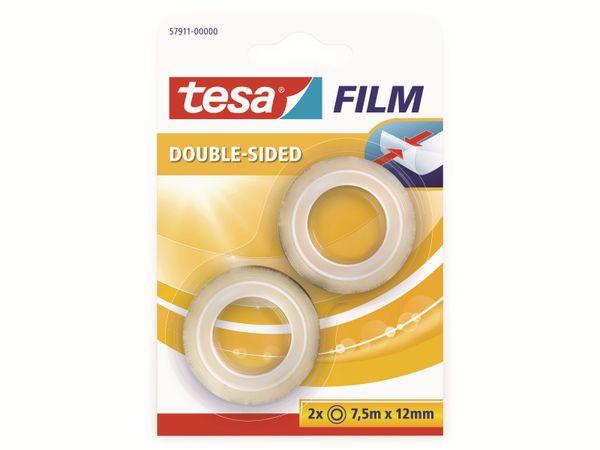 tesafilm® doppelseitig, 2 Rollen, Blister, 7,5m:12mm, 57911-00000-01
