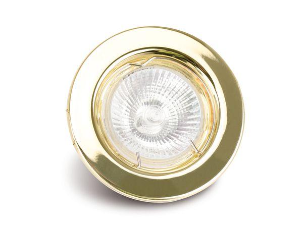MR16-Deckeneinbauleuchte DAYLITE DEL-MR1650W/G, gold