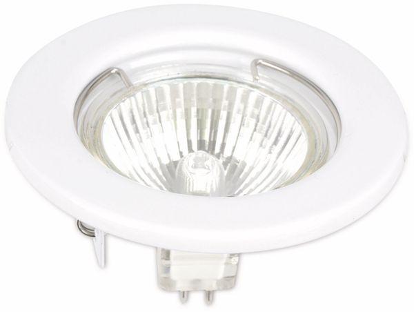 MR16-Deckeneinbauleuchte 100742-MR1650W/W, weiß