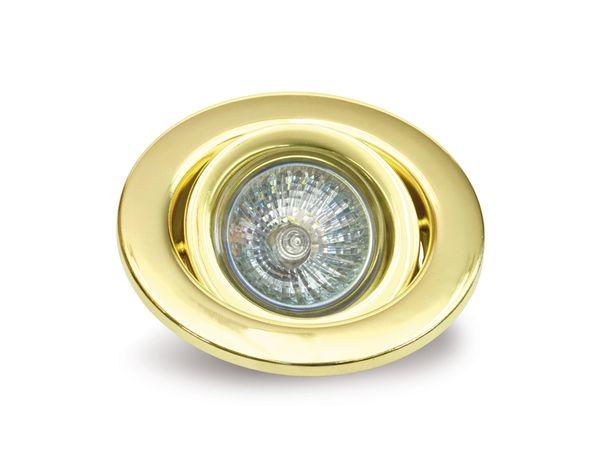 MR16-Deckeneinbauleuchte DAYLITE DEL-MR1650W/GS, schwenkbar, gold