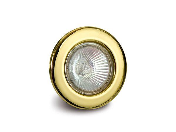 GU10-Deckeneinbauleuchte DAYLITE DEL-GU1050W/G, gold