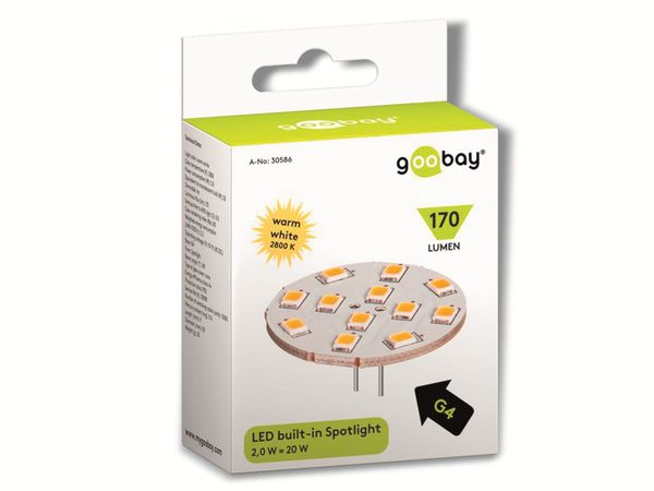 LED-Lampe, G4, 12 V-/~, 2 W, warmweiß - Produktbild 2