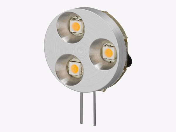 LED-Lampe, G4, 12 V-/~, 1,2 W, tageslicht weiß - Produktbild 1