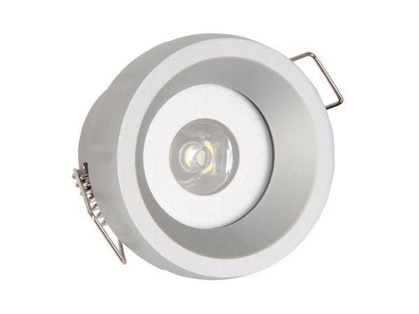 Alu Decken-Einbauleuchte AX-III, 1 W LED - Produktbild 1