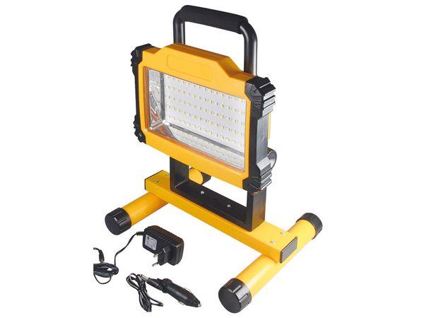LED-Baustrahler CHILITEC 20485, 75 SMD-LEDs, 1700 lm, mit Akku - Produktbild 1