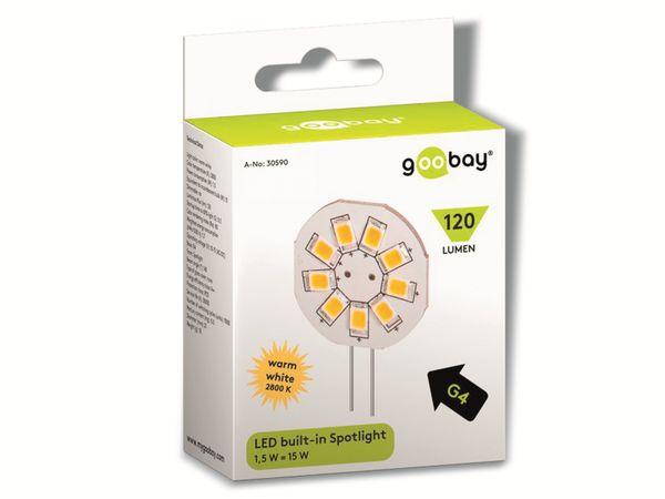 LED-Lampe, G4, 10...15 V-/~, 1,5 W, warmweiß - Produktbild 2