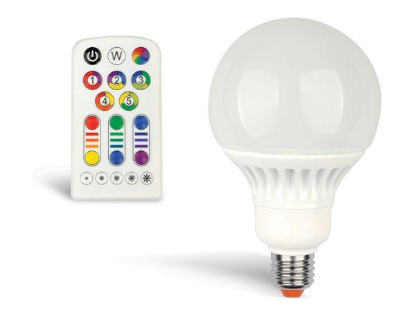 RGB LED-Lampe mit Fernbedienung JEDI LIGHTING E27, EEK: A, 8 W - Produktbild 1