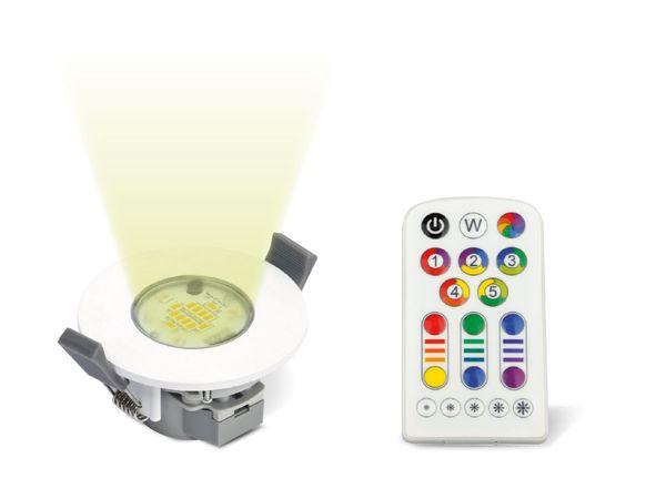 RGB LED-Einbauleuchte JEDI JE12410, weiß, EEK: A, 6,5 W, 345 lm - Produktbild 1