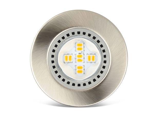 LED-Einbauleuchte JEDI Optima W50, gebürstet, 230 V~, 345 lm, 3000 K, 3 Stk - Produktbild 1