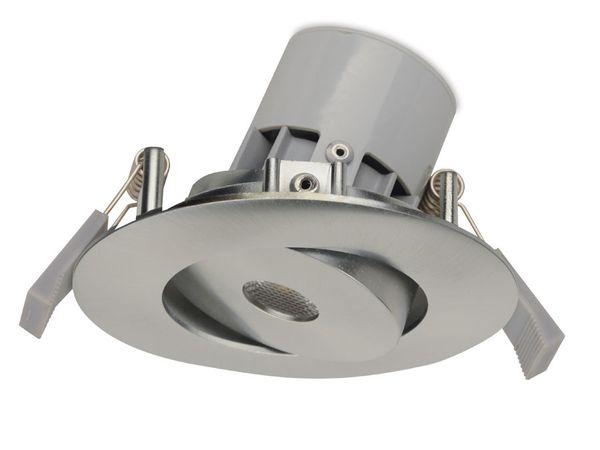 LED-Einbauleuchte JEDI Integra S50, gebürstet, EEK: A, 7 W, 345 lm, 3000 K - Produktbild 1