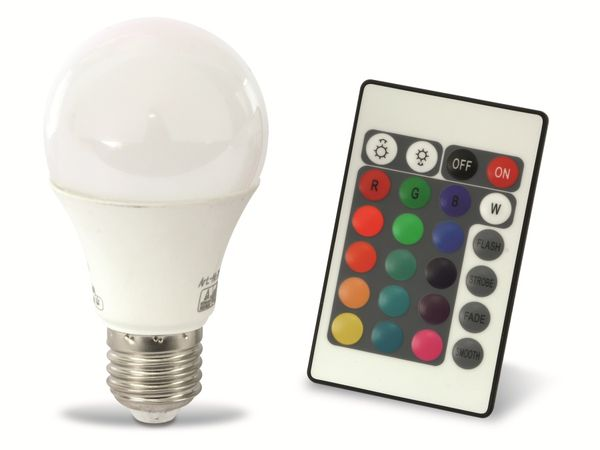 RGB LED-Lampe X4-LIFE, E27, EEK A, 7,5 W, 480 lm, 3000 K, 3 Stück - Produktbild 1