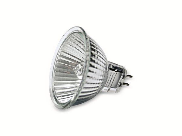 Halogen-Spiegellampe MR16, 12V/25W 2900K, Schutzglas, UV-Stop - Produktbild 1