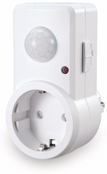 Steckdose mit Bewegungsmelder SONERO X-IMS060, 120°, IP20, weiß - Produktbild 1