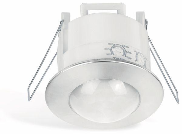 Deckeneinbau-Bewegungsmelder SONERO X-IMS110, 360°, weiß-chrom