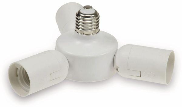 """E27-Fassung """"Triple"""" 22237, Adapter auf 3x E27-Schraubfassungen, weiß - Produktbild 1"""