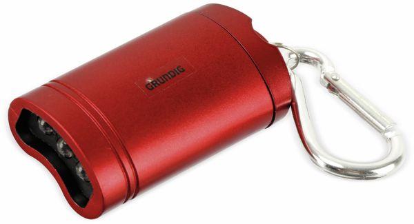 Mini-LED-Taschenlampe GRUNDIG, mit Magnetkontakt, rot