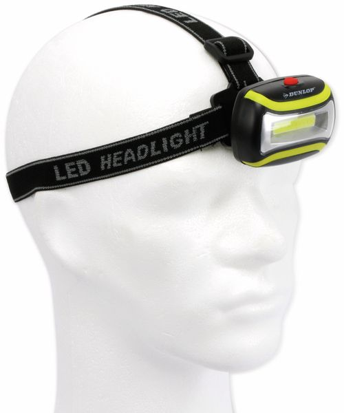LED-Stirnlampe DUNLOP, COB, 1W - Produktbild 3