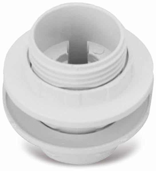 Lampenfassung, Einbaufassung E14, Kunststoff - Produktbild 1