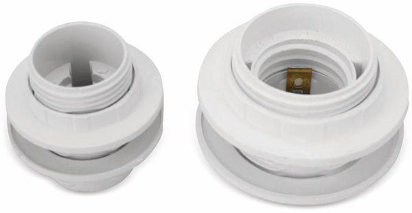Lampenfassung, Einbaufassung E14, Kunststoff - Produktbild 2